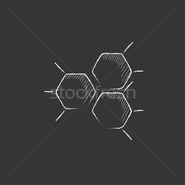 化学 式 チョーク アイコン 手描き ストックフォト © RAStudio