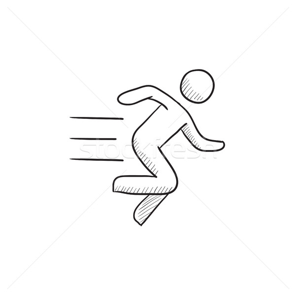 Running man sketch icon. Stock photo © RAStudio