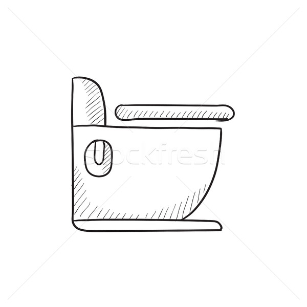 Toilettes croquis icône vecteur isolé dessinés à la main Photo stock © RAStudio