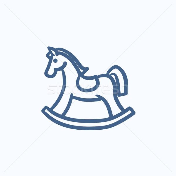 Rocking horse sketch icon. Stock photo © RAStudio