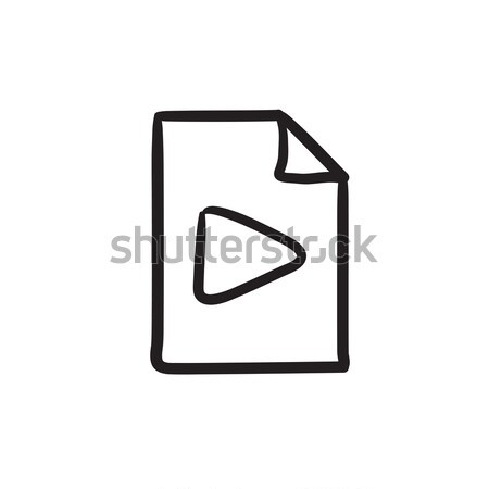 Audio file sketch icon. Stock photo © RAStudio