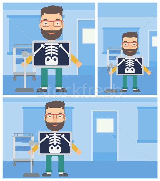 Patient during x ray procedure. Stock photo © RAStudio