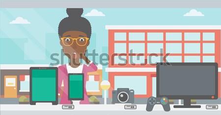 Man making selfie vector illustration. Stock photo © RAStudio