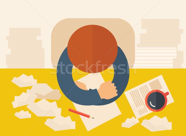 Stock photo: Writer taking notes