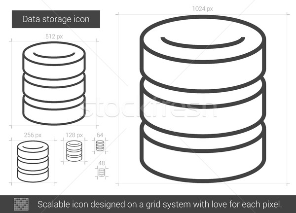 Data storage line icon. Stock photo © RAStudio