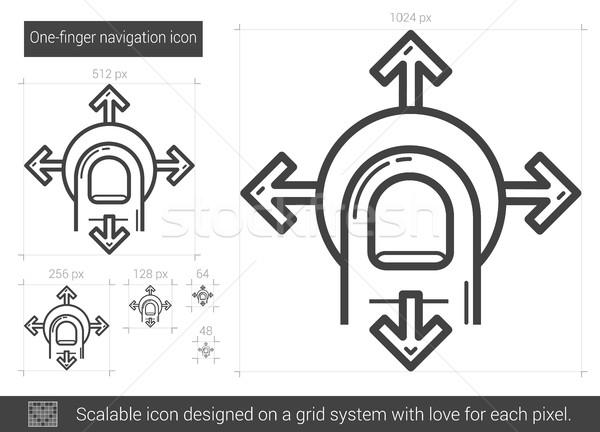 One-finger navigation line icon. Stock photo © RAStudio