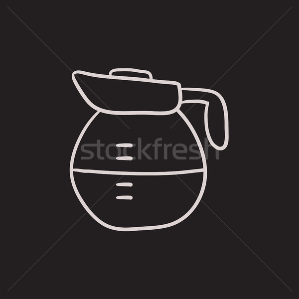 Carafe sketch icon. Stock photo © RAStudio