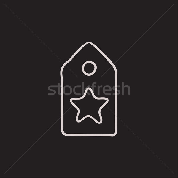 Tag with star sketch icon. Stock photo © RAStudio