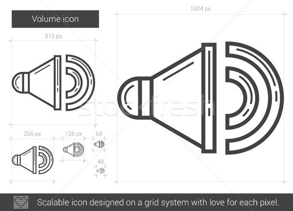 Hangerő vonal ikon vektor izolált fehér Stock fotó © RAStudio
