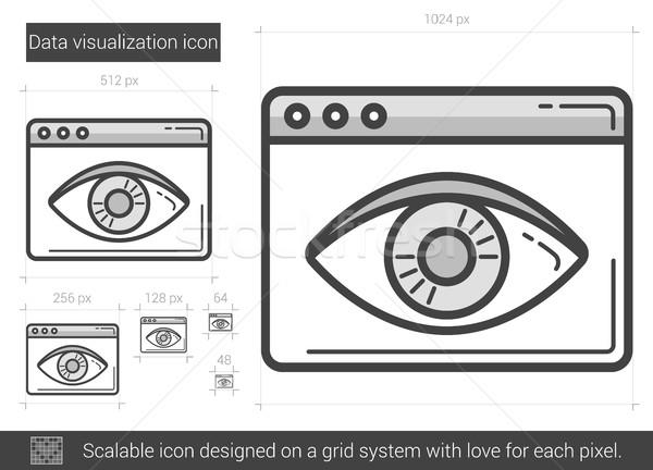 Data vizualization line icon. Stock photo © RAStudio