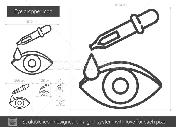 Eye dropper line icon. Stock photo © RAStudio