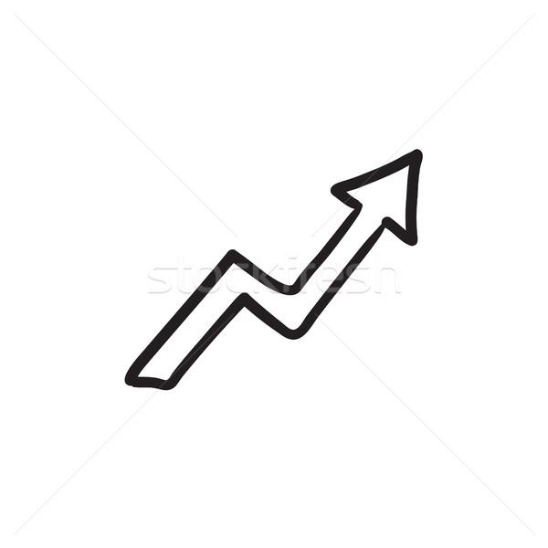 Arrow upward sketch icon. Stock photo © RAStudio