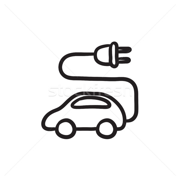 Electric car sketch icon. Stock photo © RAStudio
