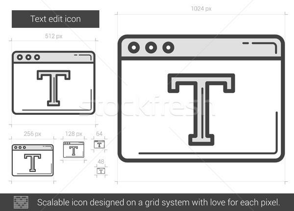 Text edit line icon. Stock photo © RAStudio