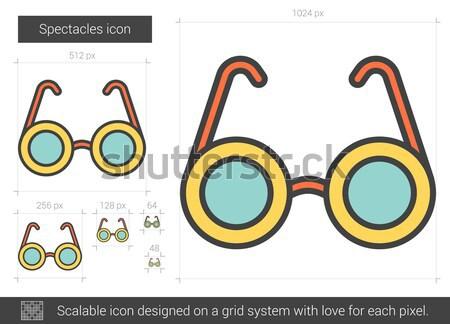Okulary line ikona wektora odizolowany biały Zdjęcia stock © RAStudio