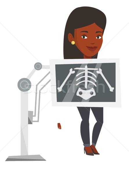 Patient during x ray procedure vector illustration Stock photo © RAStudio
