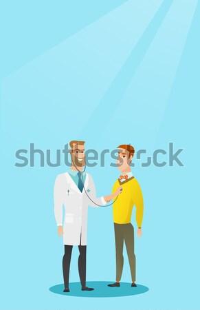 One man whispering to a friend a secret. Stock photo © RAStudio