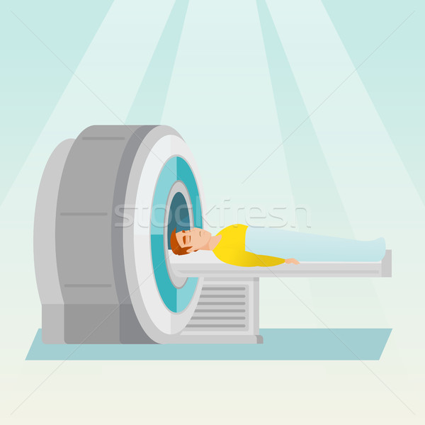 Stock photo: Magnetic resonance imaging vector illustration.