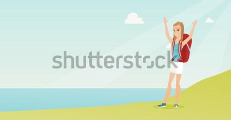 Photographer taking a photo vector illustration. Stock photo © RAStudio