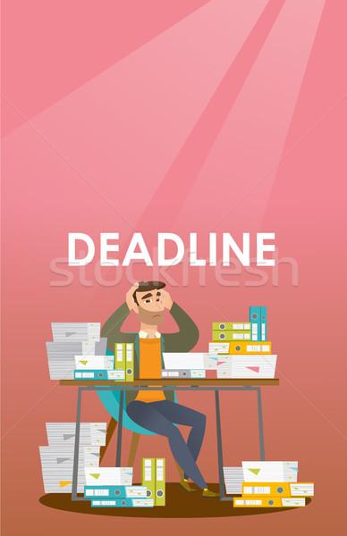 Businessman has a problem with a deadline. Stock photo © RAStudio