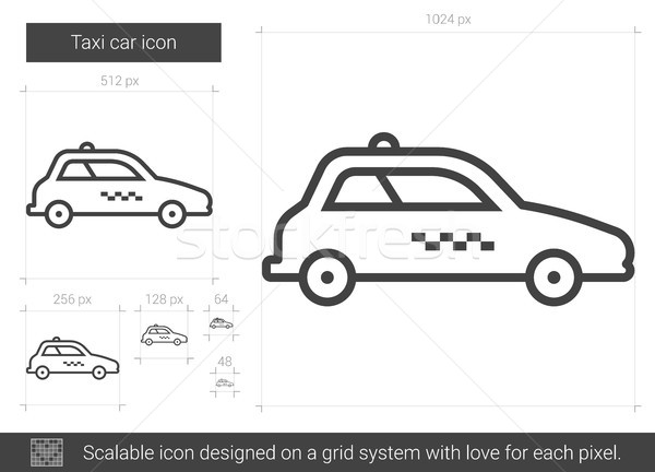 Taxi car line icon. Stock photo © RAStudio