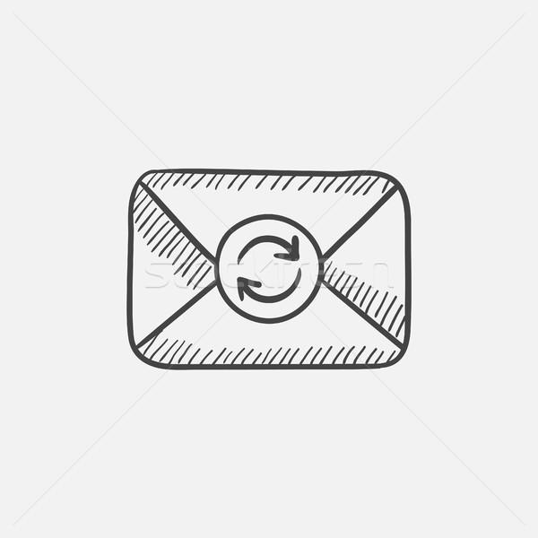Stock fotó: Boríték · posta · frissít · felirat · rajz · ikon