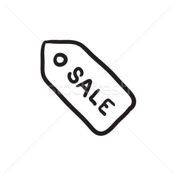 Sale tag sketch icon. Stock photo © RAStudio