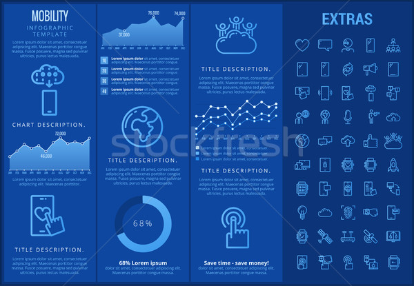Mobility infographic template, elements and icons. Stock photo © RAStudio