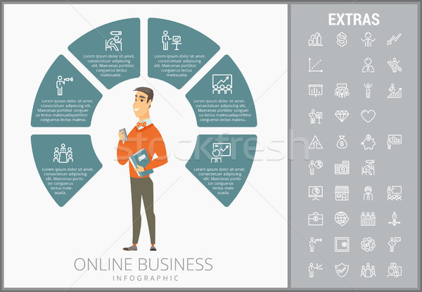 Online business infographic template and elements. Stock photo © RAStudio