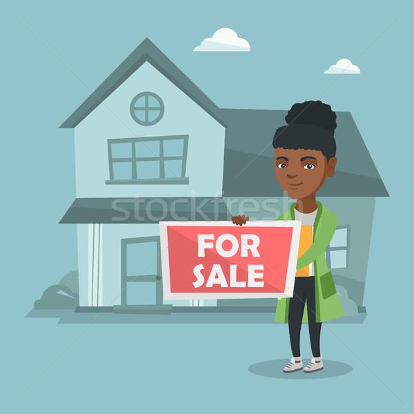 Genç komisyoncu teklif ev satış Stok fotoğraf © RAStudio