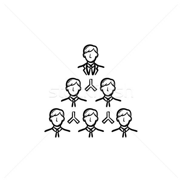 Leider schets icon schets doodle Stockfoto © RAStudio