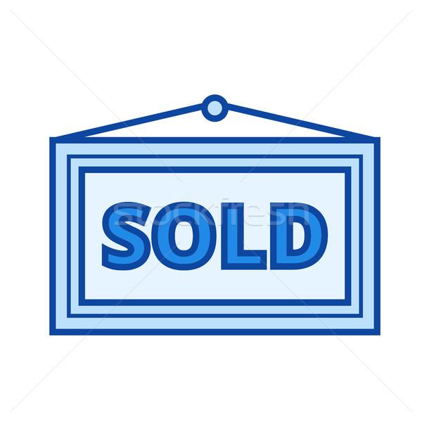 Uitverkocht lijn icon geïsoleerd witte Stockfoto © RAStudio