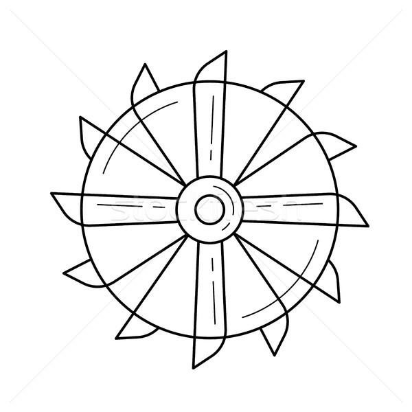 Foto stock: Minería · herramienta · vector · línea · icono · aislado