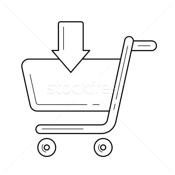 çevrimiçi alışveriş sipariş hat ikon vektör Stok fotoğraf © RAStudio