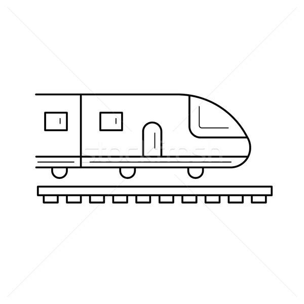 Journey subway train line icon. Stock photo © RAStudio