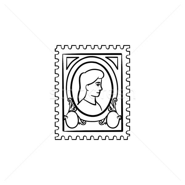 Filatelia dibujado a mano boceto icono garabato Foto stock © RAStudio