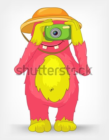 Funny Monster. Engry. Stock photo © RAStudio