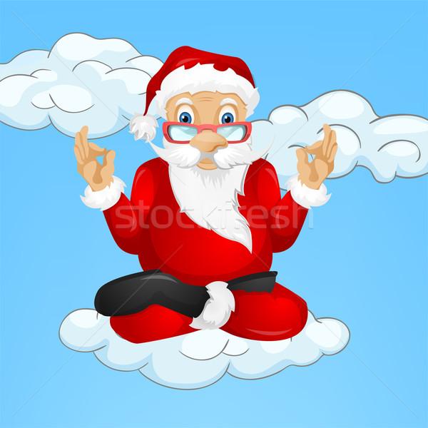 Noel baba vektör eps 10 gökyüzü Stok fotoğraf © RAStudio