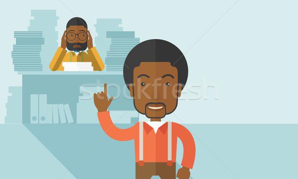 Preto escritório documentos problema reunir-se prazo de entrega Foto stock © RAStudio