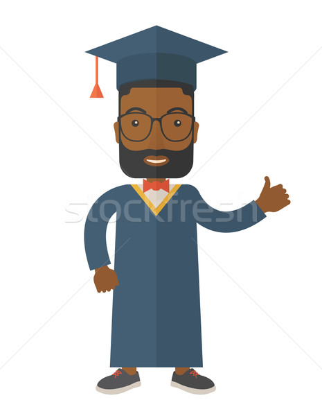 Graduation young man dream. Stock photo © RAStudio