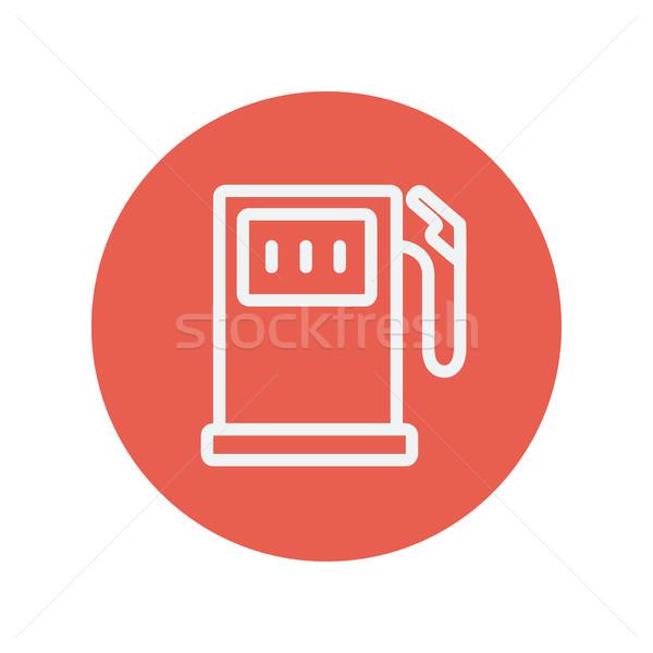 Benzina pompare sottile line icona web Foto d'archivio © RAStudio