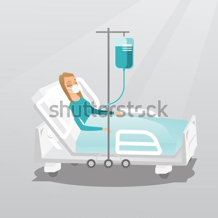 Patient in hospital bed being monitored Stock photo © RAStudio