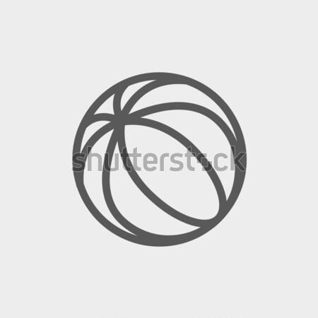 Ballon de plage icône craie dessinés à la main tableau noir Photo stock © RAStudio