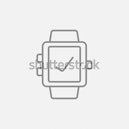 Smartwatch with check sign line icon. Stock photo © RAStudio