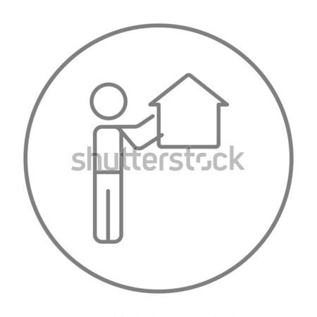 Real estate agent line icon. Stock photo © RAStudio