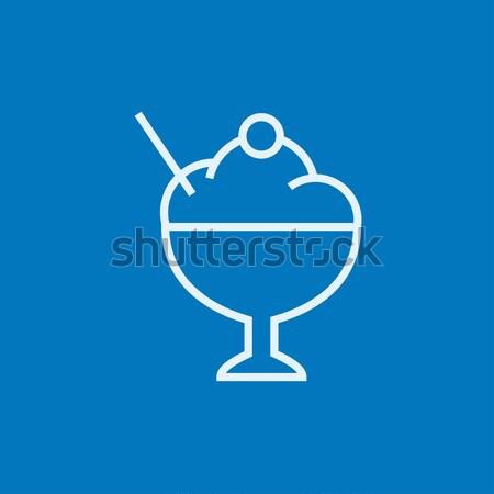 Cup of ice cream line icon. Stock photo © RAStudio