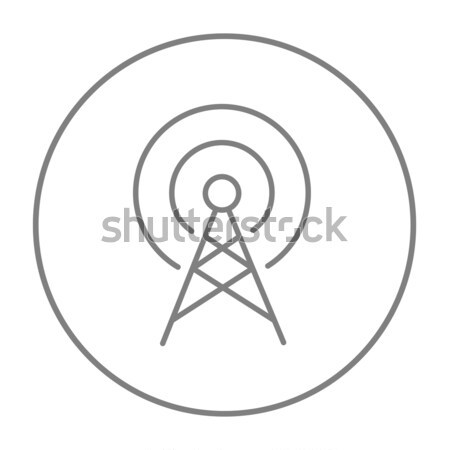 Antena línea icono web móviles infografía Foto stock © RAStudio
