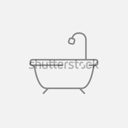 Bañera ducha línea icono web móviles Foto stock © RAStudio