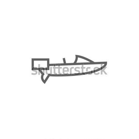 Lancha linha ícone teia móvel infográficos Foto stock © RAStudio