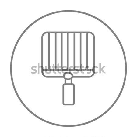 Boş barbekü hat ikon web hareketli Stok fotoğraf © RAStudio